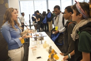 Honeybee Robotics presents to students at the 2014 NYC CS Fair