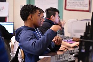 Students Justin Auguste and Harvey Li