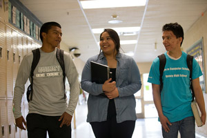 Students Abraham Calvillo, Stefanie Arredondo and Angel Bermudez